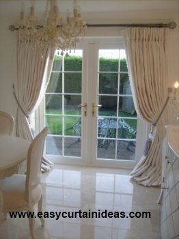 French Door Window Treatment Idea