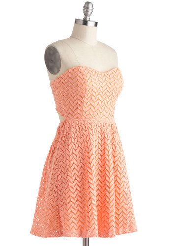 Little Bow Peach Dress, #ModCloth  another maybe