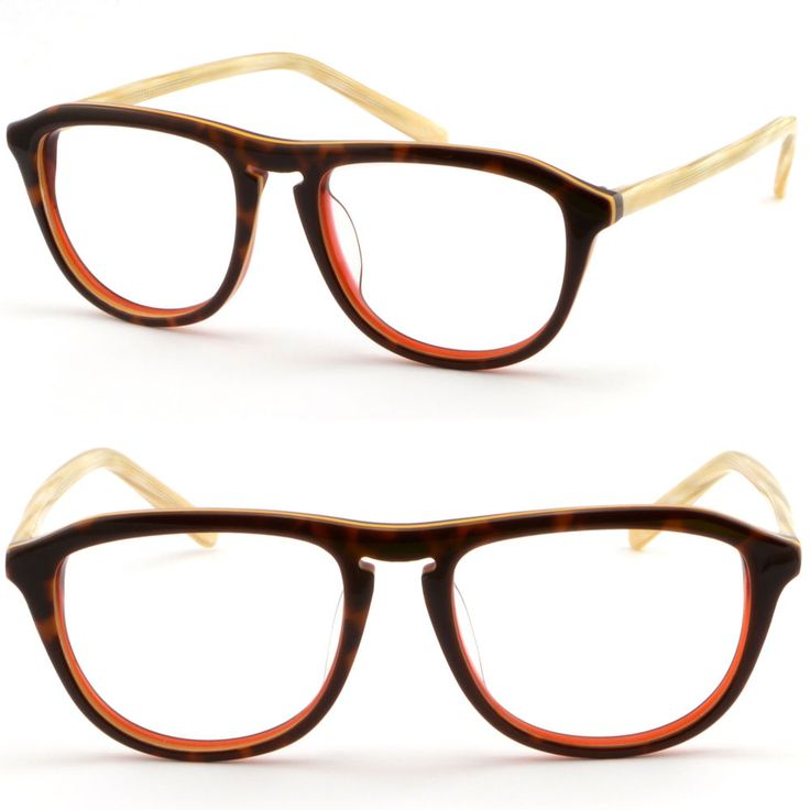 Full Rim Women Acetate Plastic Frame Keyhole Glasses RX Sunglasses Tortoiseshell #Unbranded
