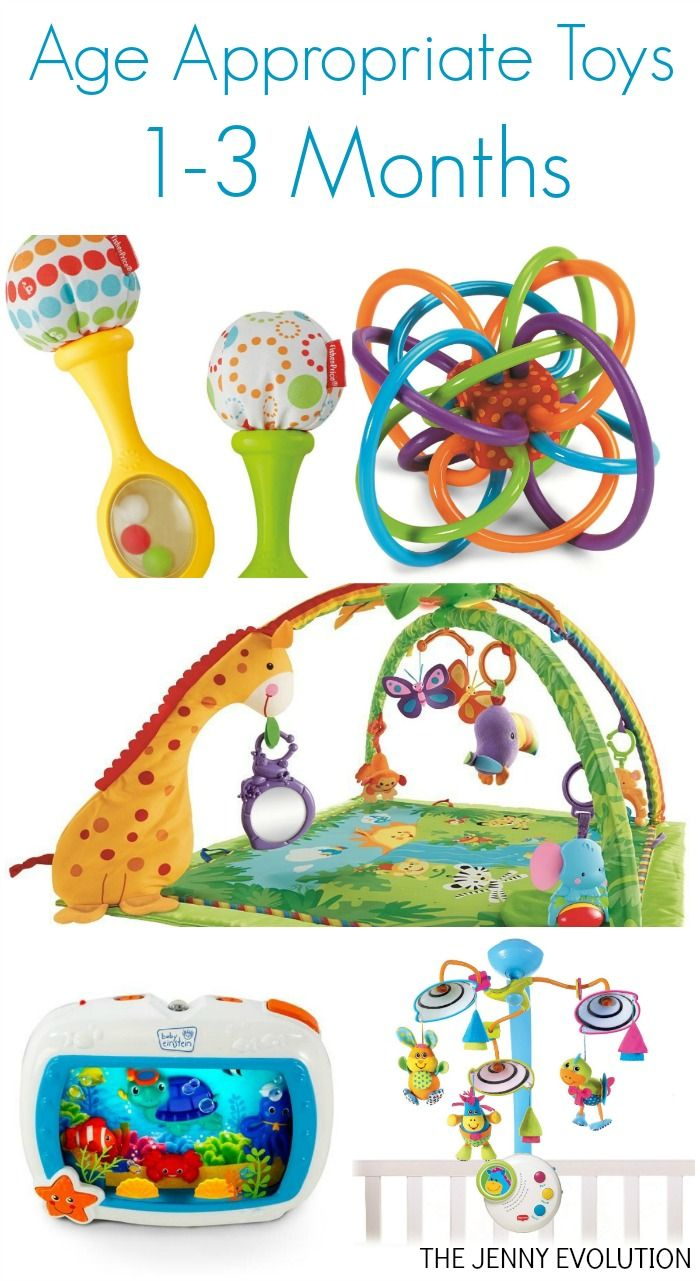Development and Age Appropriate Toys for Infants 1-3 Months - Perfect for your new baby!