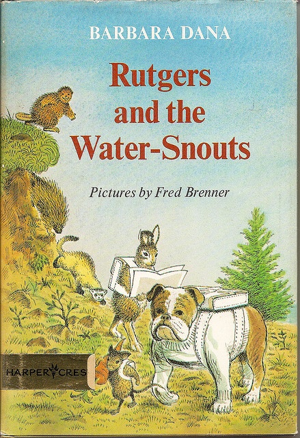 Rutgers and the Water-Snouts, by Barbara Dana, illustrated by Fred Brenner, (photo by Barbara Dana)