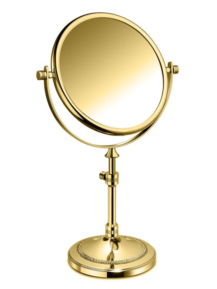 ShineLight Table 5x Circular Magnifying ADJ Mirror W/ Swarovski