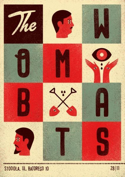 The Wombats. Poster design: Talkseek (2011).