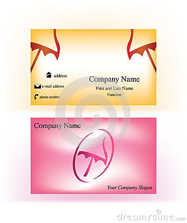 Sweet sunny, #beach #themed #business #cards with abstract #umbrella #logo symbol