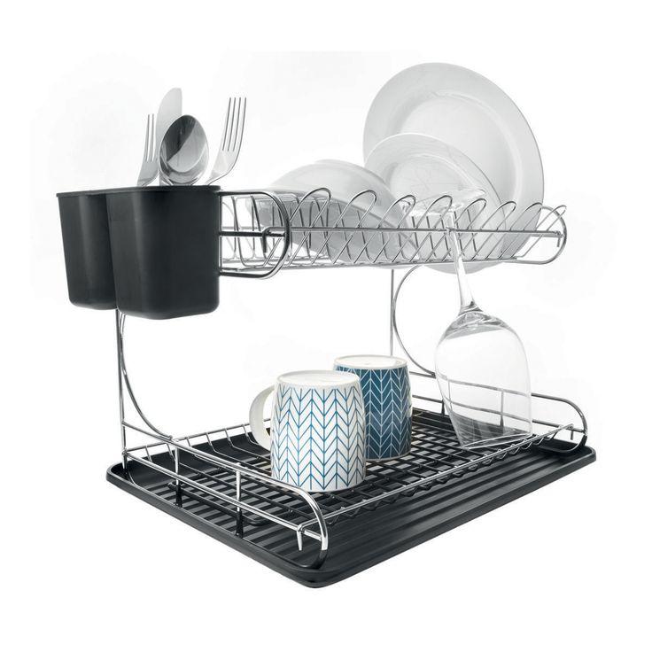2 Tier Chrome Dish Rack | Kmart