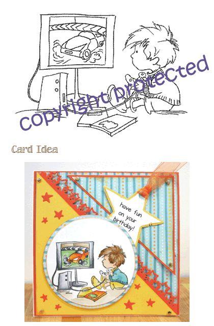 *Stamp* - Boys - Computer Fun