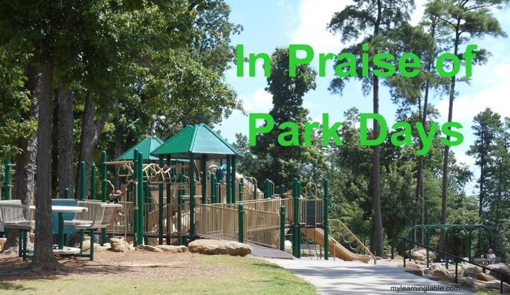 THE IMPORTANCE OF PARK DAYS #homeschool #outdoor play @mylearningtable.com