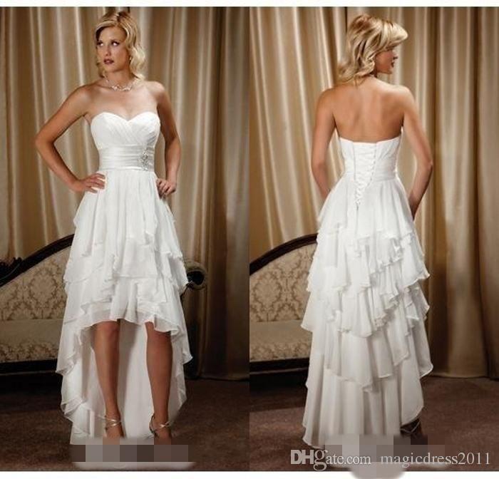 Short Beach Wedding Dresses for Outside
