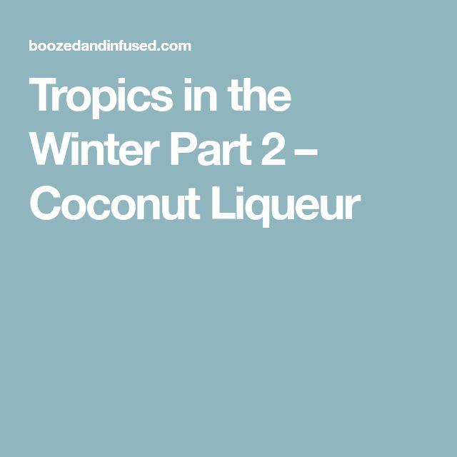 Tropics in the Winter Part 2 – Coconut Liqueur