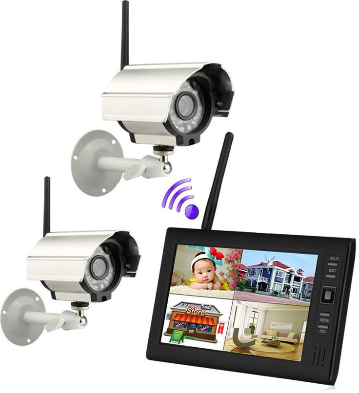 """New 7"""" TFT LCD 2.4G 4CH Wireless Home DVR Security System Monitor /w IR Cameras: Get it for $109.00 (was $218.00) #coupons #discounts"""