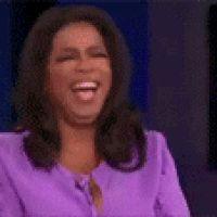 """FAV GIFS - """"OPRAH FALLING OUT LAUGING"""