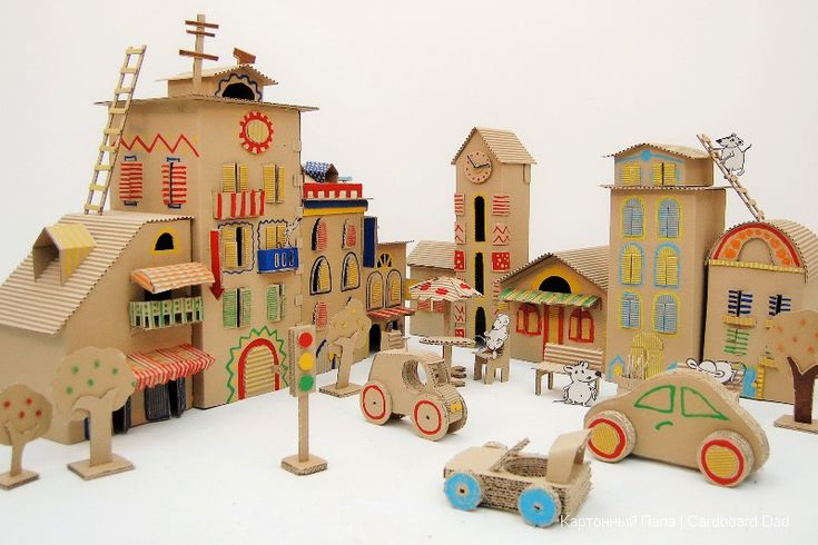Cardboard city mouse