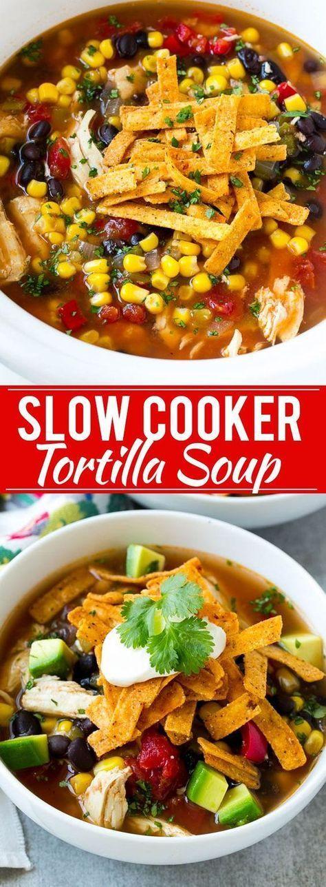 Slow Cooker Chicken Tortilla Soup Recipe | Posted by: DebbieNet.com