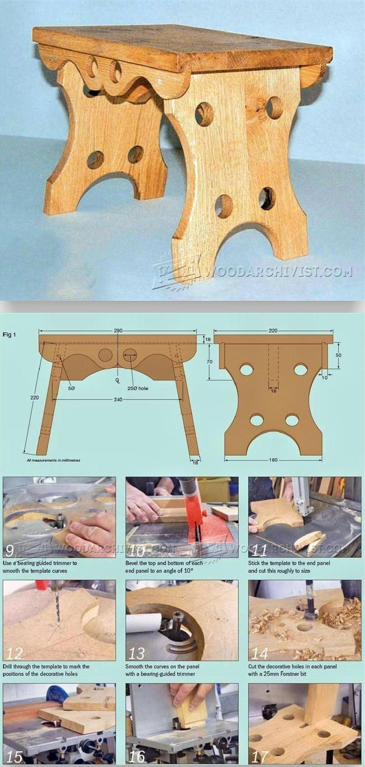 Oak Footstool Plans - Furniture Plans and Projects | WoodArchivist.com