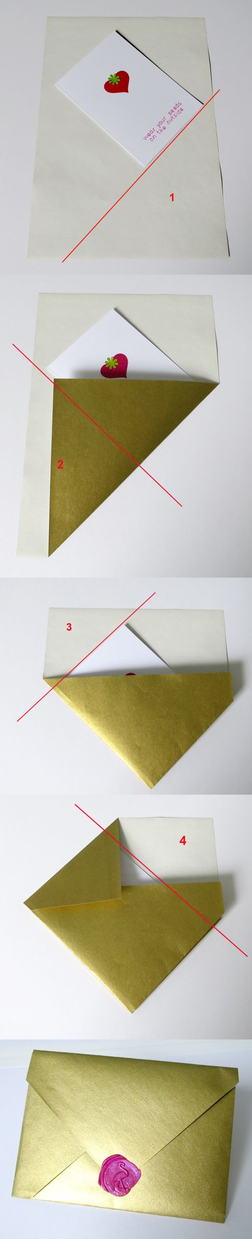 quick and easy diy envelope from A4 paper - no template or cutting needed