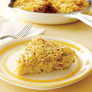 Cook this easy spaghetti pie for a quick and budget-friendly weeknight dinner.