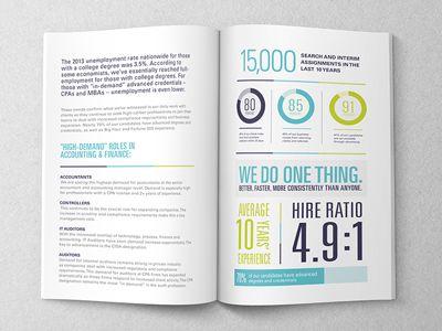 Report Design Layout: Modern flat brochure layout design template ...