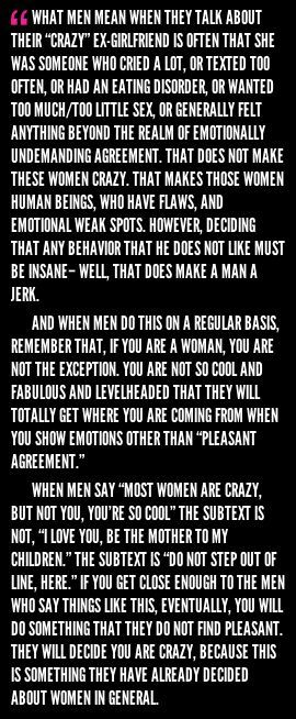 'Women are crazy'
