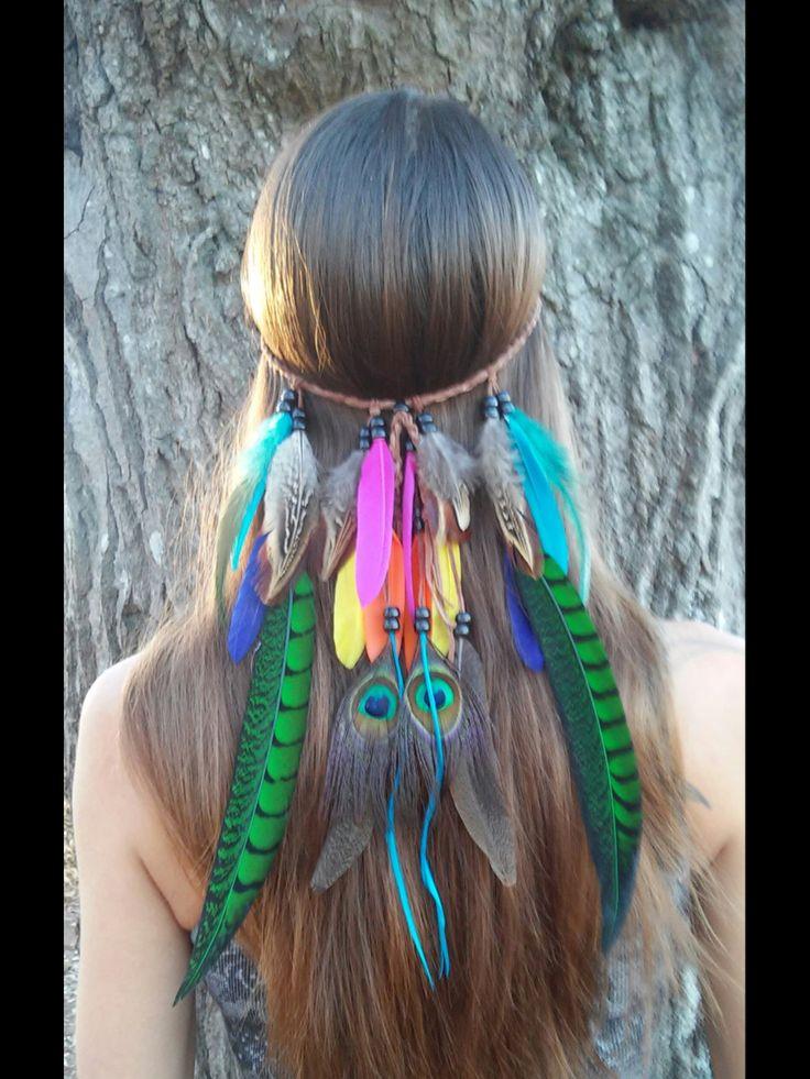 Bird of paradise feather headband etsy