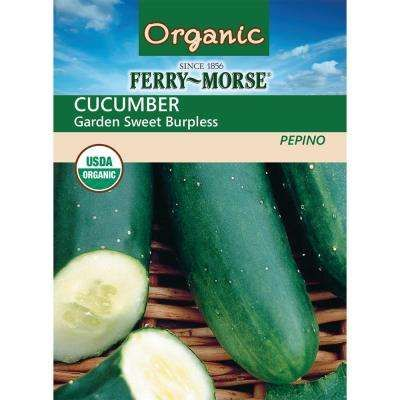 Cucumber Garden Sweet Burpless Hybrid Organic Seed