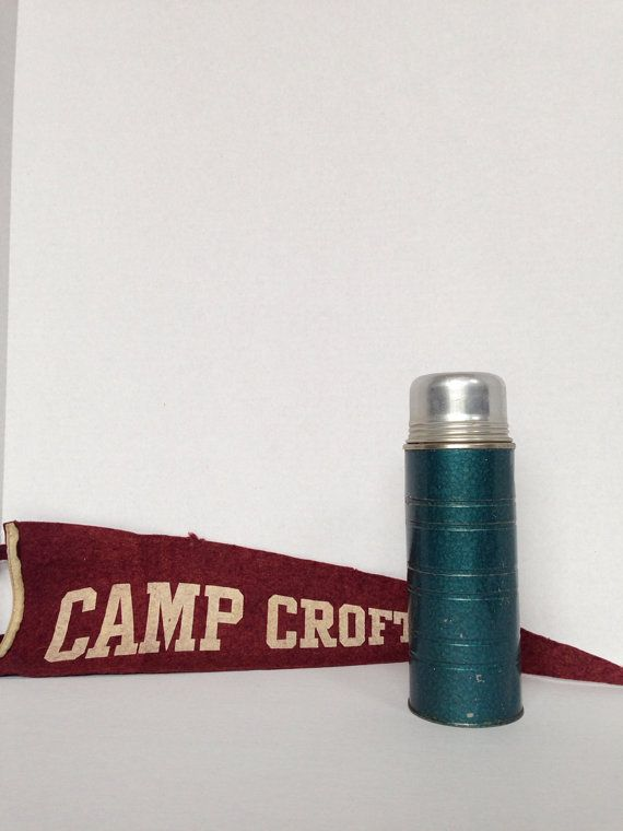 Vintage Aladdin Metal Thermos  Hot / Cold by OneDecember on Etsy, 10.00