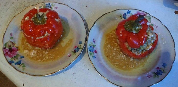 А у нас на ужин перчики фаршированные, а у вас? Рецепт тут  - http://vilka-logka.livejournal.com/59291.html