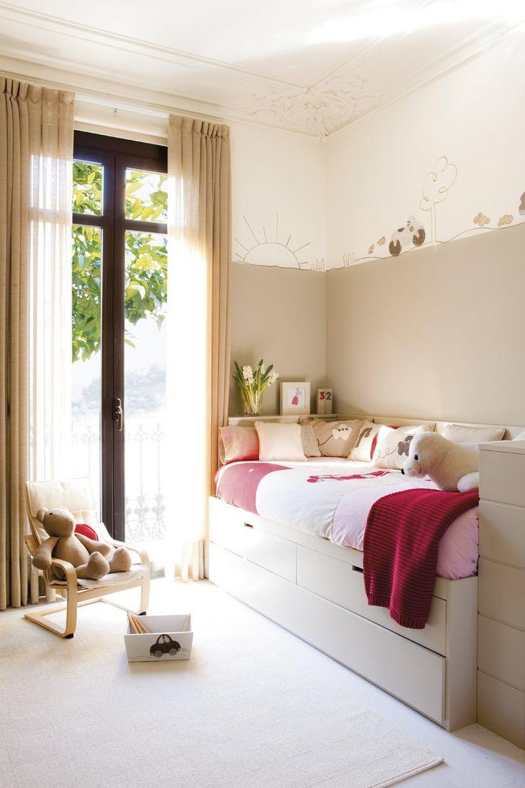 Maxi ideas para mini habitaciones habitaci n infantil - Estanterias para habitacion nina ...