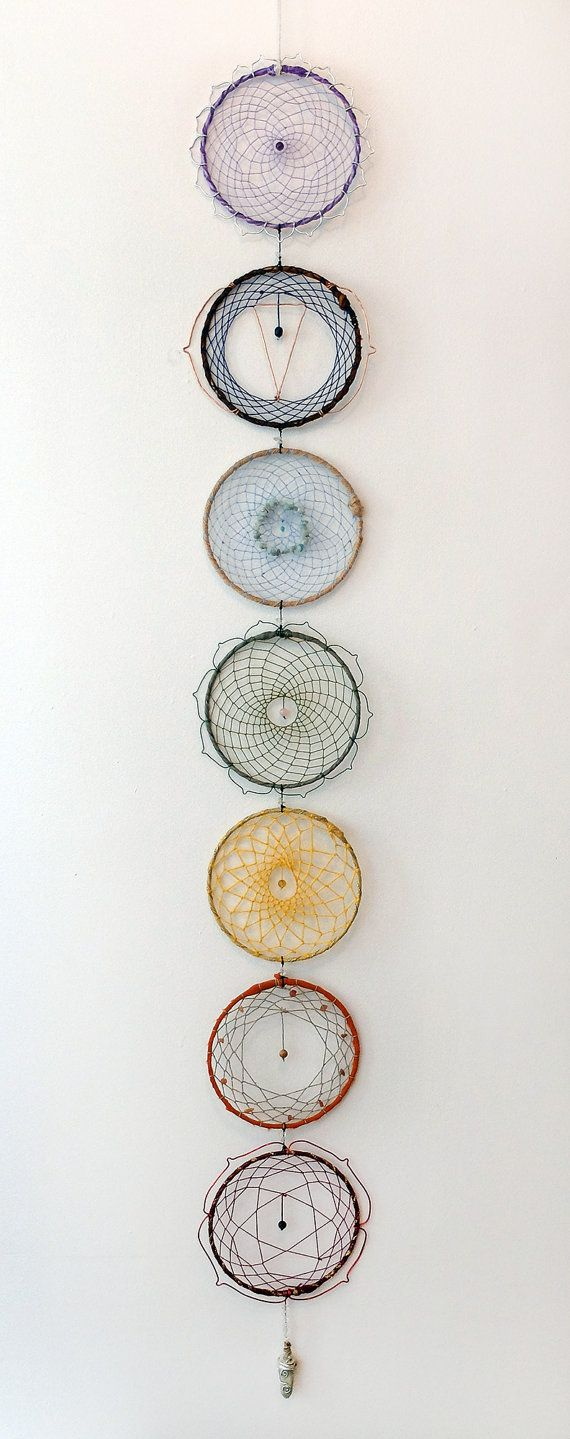 Seven Chakra Dreamcatcher  by CreationDevi on Etsy
