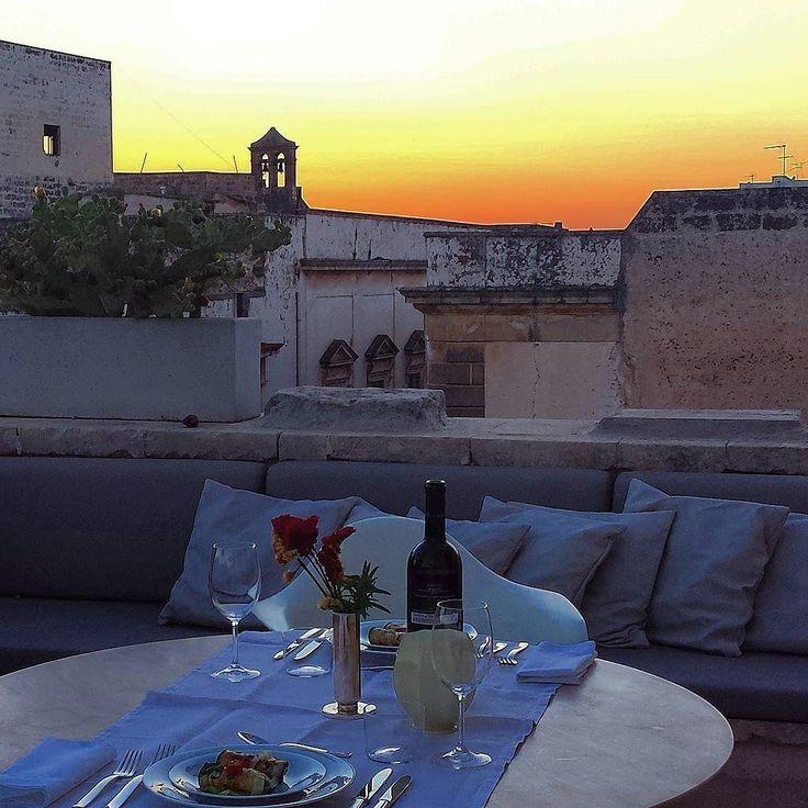 My romantic dinner with a view #galatina #dinner #cena #romantico #roma tic #roma tisch #lovely #essen #atavola #cibo #squisito #tramonto #puglia #salento #tetti #sopraitetti #dapperman #men #menliving #love #dudes #coppia #evening #goodevening #buonasera by christianpizzinini69