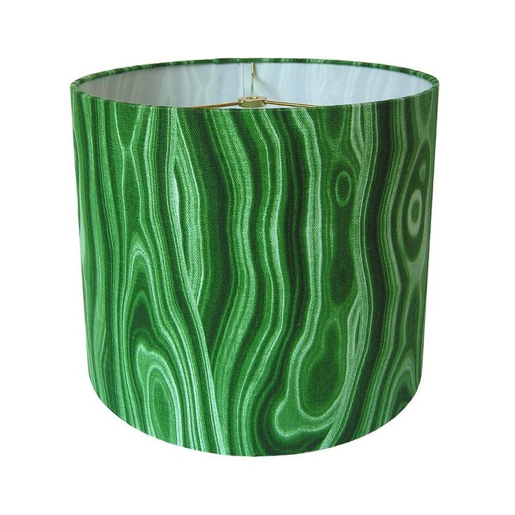 """Custom Lamp Shade - Gemstone Lampshade - Malachite Lamp Shade - Malakos by Robert Allen for Dwell Studio - Green Lamp Shade - Made to Order 9"""" to 16"""" Diameters. Custom lamp shade, constructed by hand from raw materials and covered with Robert Allen's Malakos in Malachite. SPECS: - FABRIC: Robert Allen's Malakos in Malachite is a cotton fabric with an emerald green, gemstone design. - FITTING: Standard washer/spider fitting to be used with harp and finial. - SIZE: Please use the drop down..."""