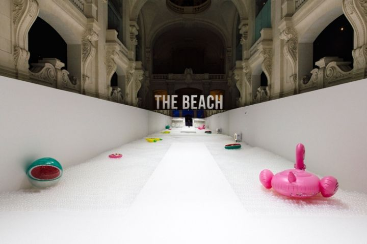 The beach installation by Snarkitecture, Milan – Italy » Retail Design Blog