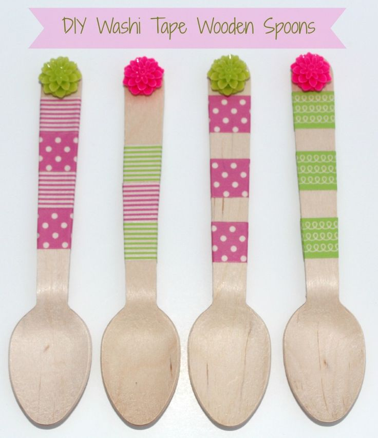Washi Tape Wooden Spoons