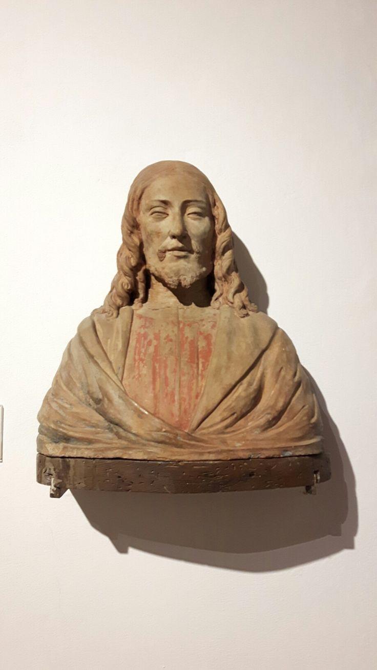 Busto di terracotta  attribuito  a Benedetto da Maiano.  San Geminiano
