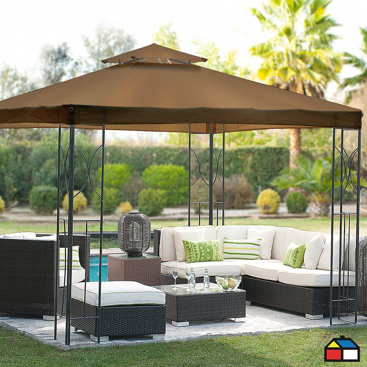 Pérgola panel doble #Jardin #terraza