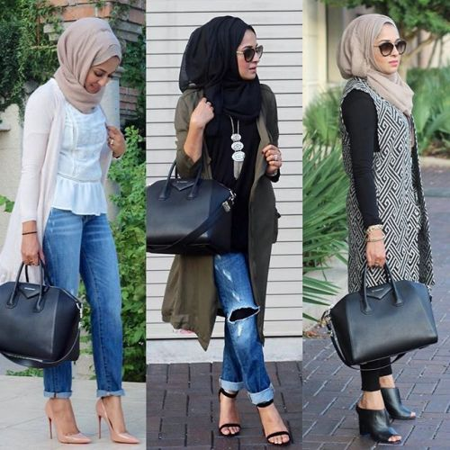 street style hijab fashion, Fall stylish hijab street looks http://www.justtrendygirls.com/fall-stylish-hijab-street-looks/