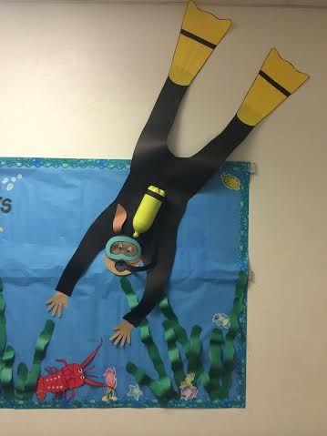 Scuba Diver Bulletin Board School Stuff Pinterest