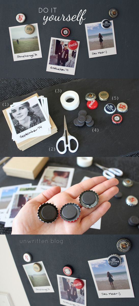 DIY Magnets! Perfect gift for men #gift #men #father #diy #giftidea #inspiration #birthday (Diy Basteln Geschenk)