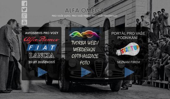 Alfa - Omega servis & WFB Media                  telefon: (+420) 377 972 169                  mobil 1: (+420) 777 857 021                  mobil 2: (+420) 777 857 022                  E-mail: aaa.alfa1@gmail.com                  Autoservis Alfa Romeo - dílny Průcha                  Autoservis Fiat - dílny Průcha                  Autoservis - dílny Průcha                  Kompletní servis vozů Alfa Romeo Fiat Lancia.                  Prodej nových i použitých náhradních dílů…