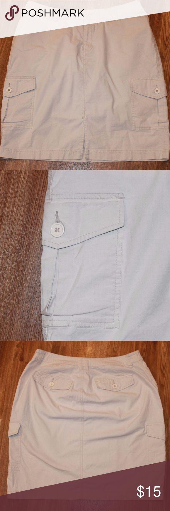"Venezia Lane Bryant Khaki Pencil Cargo Skirt HW408 Venezia Lane Bryant Khaki Pencil Skirt Plus Size 16  2 Front Pockets 2 Side Cargo Pockets  2 Back Pockets   97% Cotton 3% Spandex   Measurement's are approximate: Waist: 36"" Length: 22"" Lane Bryant Skirts"