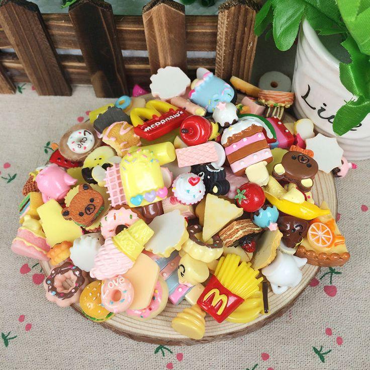 10pcs lifelike fast food rilakkuma plastic charms cartoon