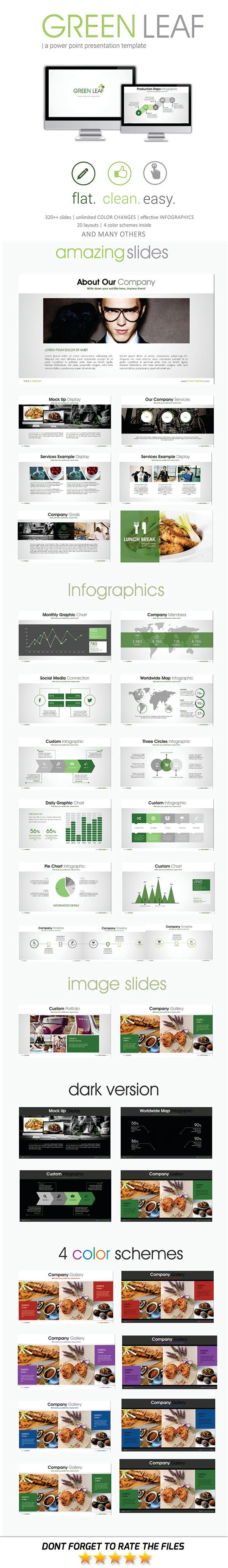 Green Leaf PowerPoint Template #design Download: http://graphicriver.net/item/green-leaf-powerpoint-template/11561434?ref=ksioks