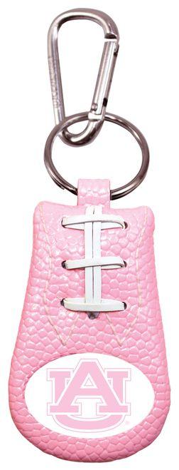 Auburn Tigers Pink Football Keychain