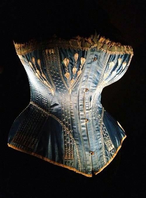 Corset, c.1870 Dramatic lighting gives sculptural effect to Victorian undergarment