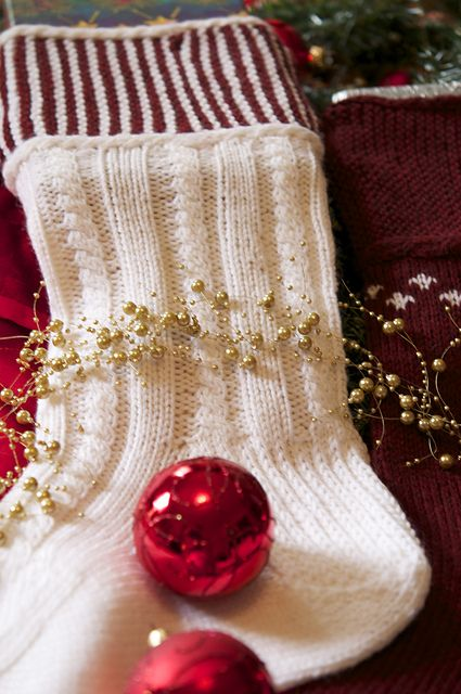 54 Best Knit Christmas Stockings Images On Pinterest Christmas