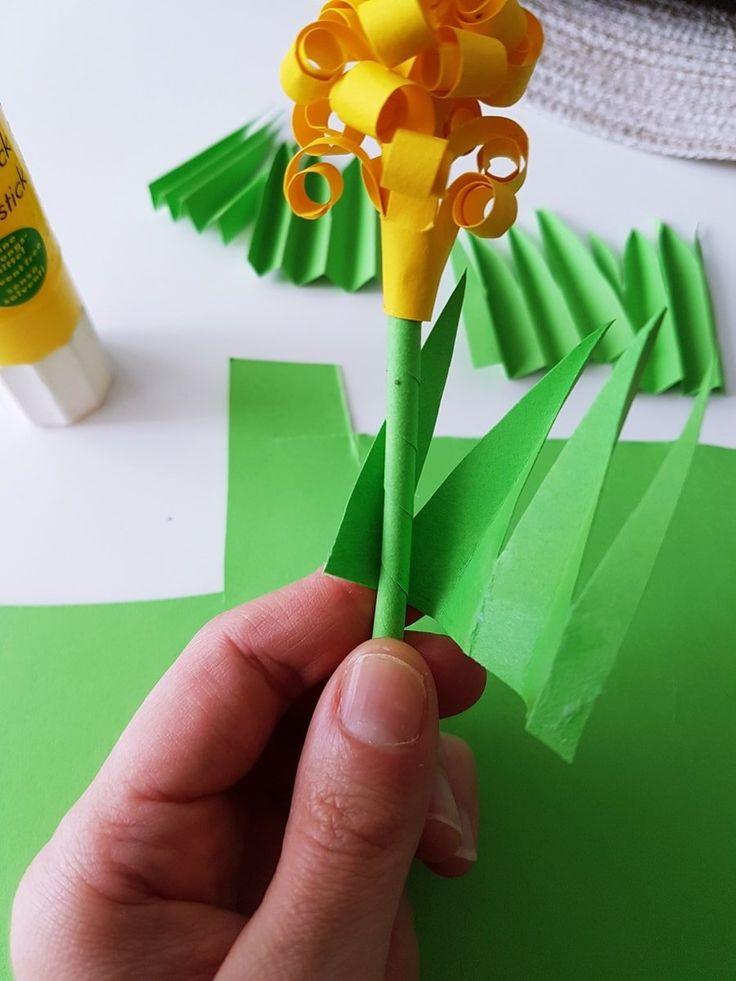 DIY Papierblumen Hyazinthen basteln