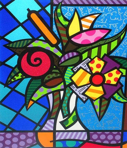 Might be something I can share with my upper elementary students.  An artist to study and learn from...Romero Britto