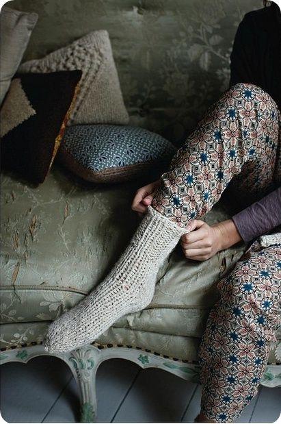 Cosy cabin socks