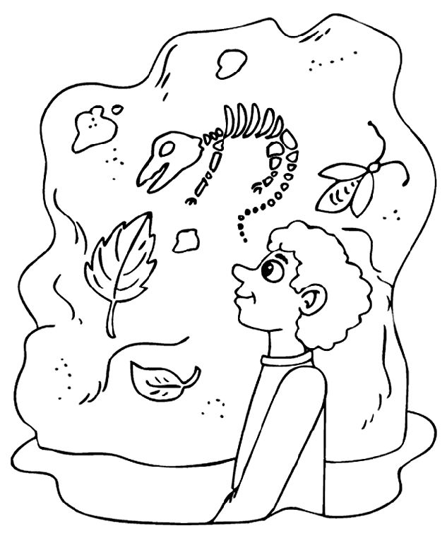 crayola coloring pages | Museum Dinosaurs coloring page