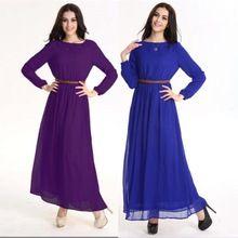 dubai stijl Arabisch-islamitische jurken Vestidos plus size islamitische kleding voor vrouwen met lange abaya moslim maxi kleding 2014 mode(China (Mainland))