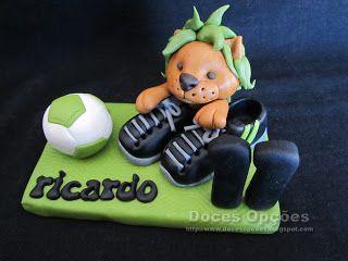 Doces Opções: Topo de bolo para o aniversário do Ricardo